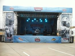 mobile stage rental, portables stage, tailgate stage