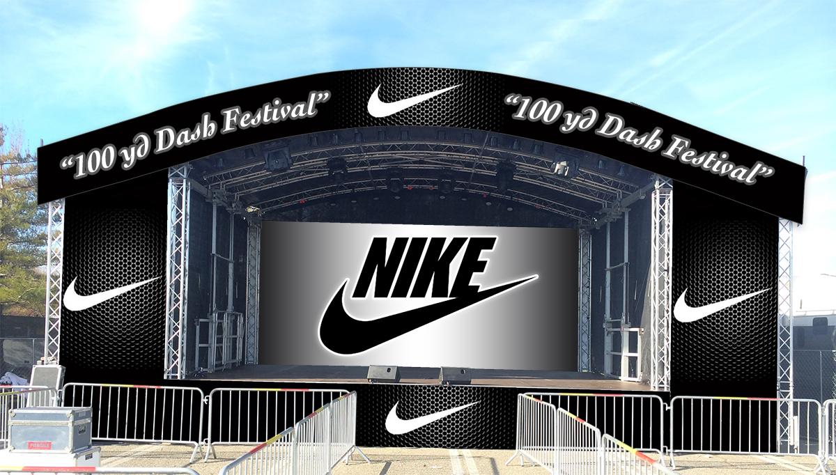 Nike 100 Yard Dash | Mobile Stage Network